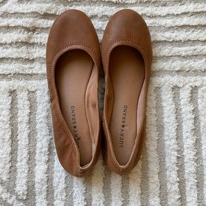 Lucky Brand Brown Leather Ballet Flats